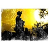Motivational Grunge Poster: Respect. U.S. Army Ser