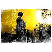 Motivational Grunge Poster: Respect. U.S. Army Ser