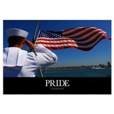 Military Poster: Pride, A sailor salutes the Ameri