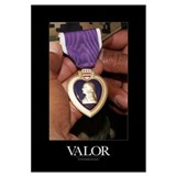 Military Poster: Holding purple heart