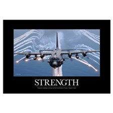 Military Motivational Poster: An AC-130H Gunship a