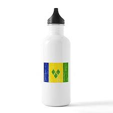 Saint Vincent Flag Water Bottle