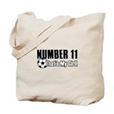 Proud soccer parent of number 11 Tote Bag
