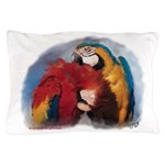 Preening Macaw Parrots Pillow Case