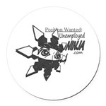 Unemployed Ninja Round Car Magnet
