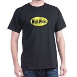 High Point, North Carolina Black T-Shirt