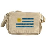Uruguay Flag Messenger Bag