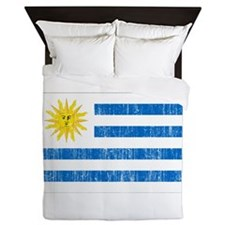 Uruguay Flag Queen Duvet