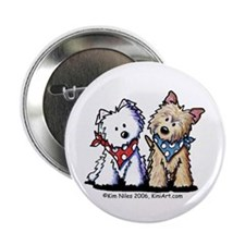"Cairn & Westie Terrier 2.25"" Button (100 pack)"