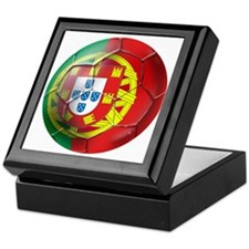 Portuguese Soccer Ball Keepsake Box