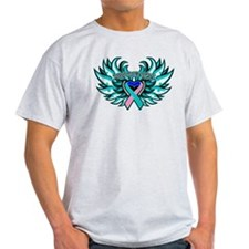 Thyroid Cancer Heart Wings T-Shirt