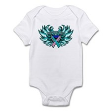 Thyroid Cancer Heart Wings Infant Bodysuit