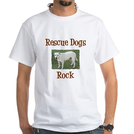 Rescue Dogs Rock White T-Shirt