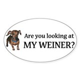 Looking at my weiner? Decal