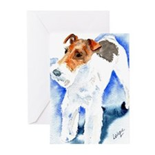 Wired Fox Terrier Greeting Cards (Pk of 10)