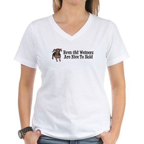 Old Weiners Women's V-Neck T-Shirt