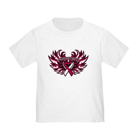 Throat Cancer Heart Wings Toddler T-Shirt
