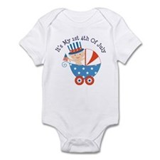 Baby's 1st 4th of July Infant Bodysuit