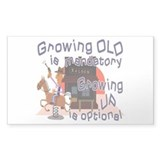 Over-the-hill Growing old Decal