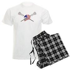 American Flag Lacrosse Helmet Pajamas