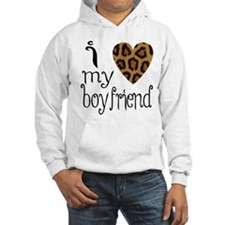 I Love My Boyfriend Leopard Print Jumper Hoody