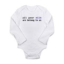Cute Nerdy baby Long Sleeve Infant Bodysuit