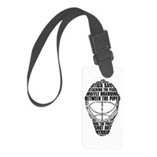 Hockey Goalie Mask Text Luggage Tag