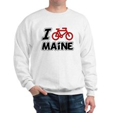I Love Cycling Maine Sweatshirt