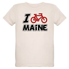 I Love Cycling Maine T-Shirt