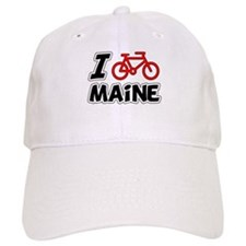 I Love Cycling Maine Baseball Cap