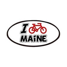 I Love Cycling Maine Patches