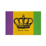 Mardi Gras Rectangle Magnet (100 pack)