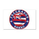 Hawaiian Freemason Car Magnet 20 x 12