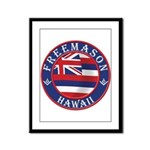 Hawaiian Freemason Framed Panel Print