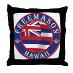 Hawaiian Freemason Throw Pillow