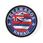 Hawaiian Freemason Wall Clock