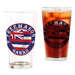 Hawaiian Freemason Drinking Glass