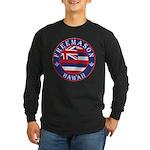 Hawaiian Freemason Long Sleeve Dark T-Shirt