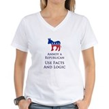 Annoy A Republican Use Facts Women's V-Neck Tee