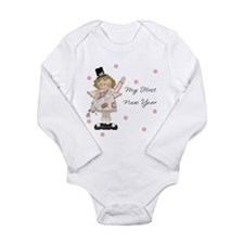 Cute Baby new years Long Sleeve Infant Bodysuit