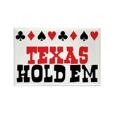 Texas Hold'em Poker Rectangle Magnet