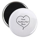 W01 Souvenir Magnet: I Love Southern Soul Music