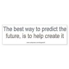 """Create the Future"" Bumper Bumper Sticker"