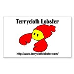 Terrycloth Lobster Sticker