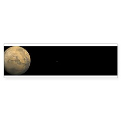 Mars and moons Sticker (Bumper 10 pk)