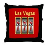 Las Vegas 777 Throw Pillow
