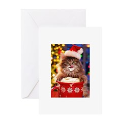 Retro Cat Christmas Cards
