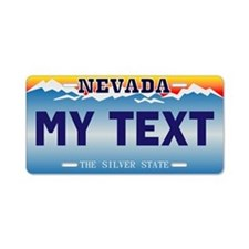 Nevada Silver State Custom Aluminum License Plate