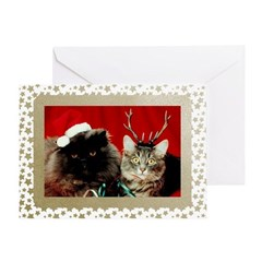 Vintage Cats Christmas Cards