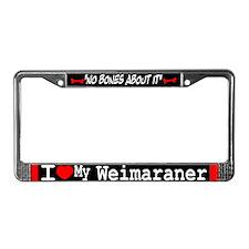NB_Weimaraner License Plate Frame